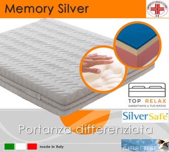 Materasso Memory Silver Dispositivo Medico Tre Strati da cm 85x190/195/200 Made in Italy - Top Relax