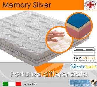 Materasso Memory Silver Dispositivo Medico Tre Strati da cm 90x190/195/200 Made in Italy - Top Relax