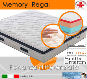 Materasso Memory Regal Dispositivo Medico Quattro Strati da cm 165x190/195/200 Made in Italy - Top Relax