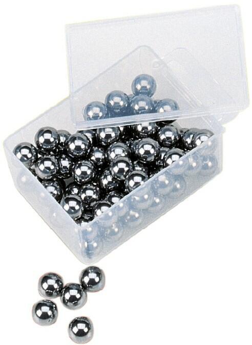 Sfere in acciaio diametro 9,5 mm. in blister da 75 pezzi