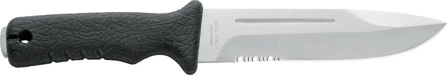 Coltello outdoor lama in acciaio inox da 17 cm. con scola sangue