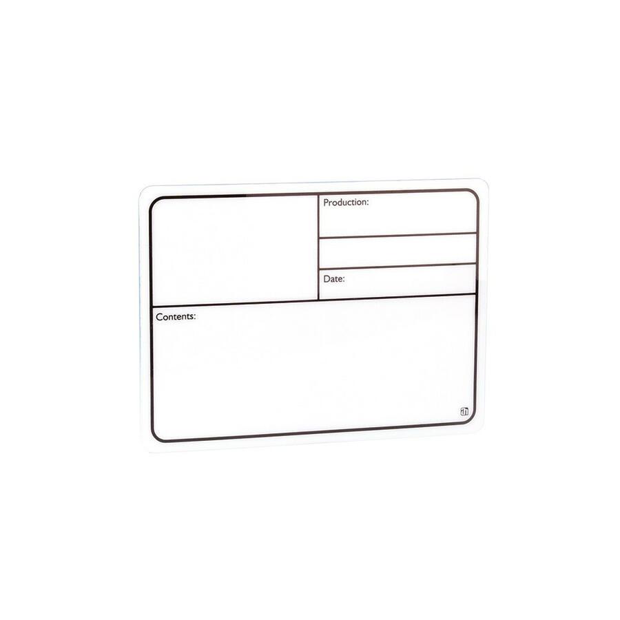 Targhetta Scrivibile in plastica bianca autoadesiva 130 x 85mm