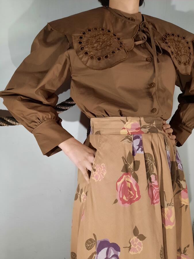 Camicia maxi colletto