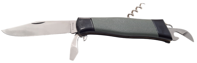 Coltello a serramanico multiuso lama inox cm.8,5 - fabbricazione Maniago - Italy