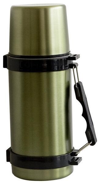 Thermos in acciaio inox con maniglia capacità lt.0,60 colore verde militare