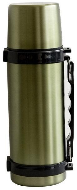 Thermos in acciaio inox con maniglia capacità lt.0,75 colore verde militare