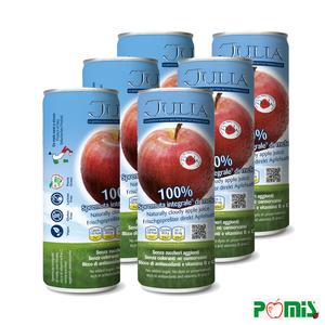 6 lattine di pura spremuta integrale di mele
