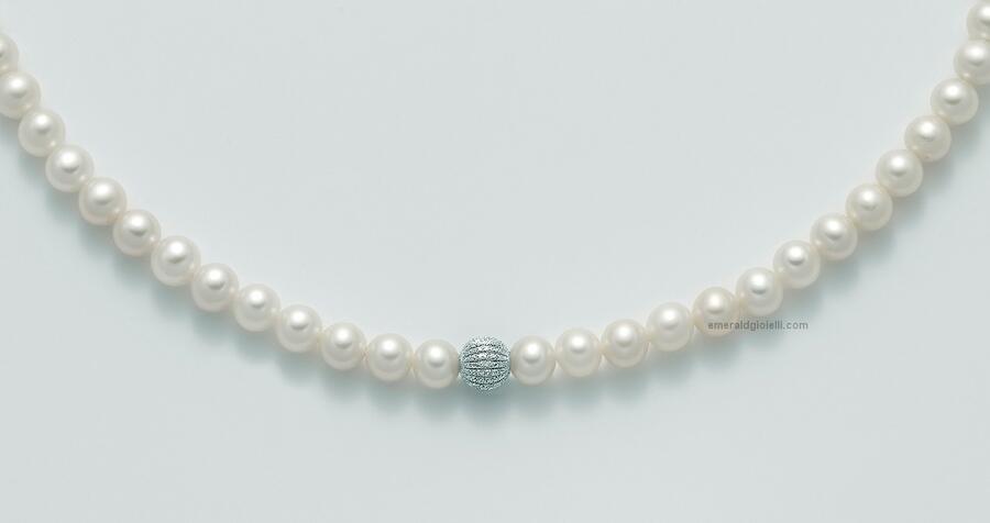 pcl5300 Girocollo di perle miluna
