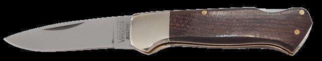 Coltello a serramanico lama inox cm.4,5 manico legno