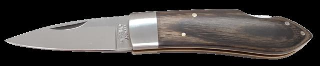 Coltello a serramanico lama inox cm.5 manico legno