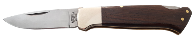 Coltello a serramanico lama inox cm.6 manico legno