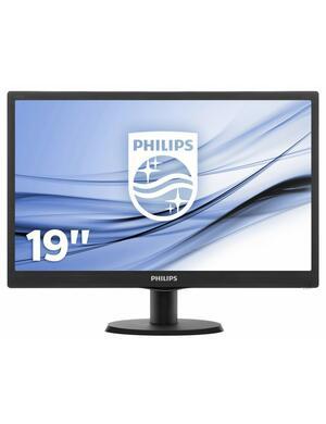 """MONITOR LCD 18.5"""" V-LINE 193V5L CON RETROILLUMINAZIONE LED NERO PHILIPS"""