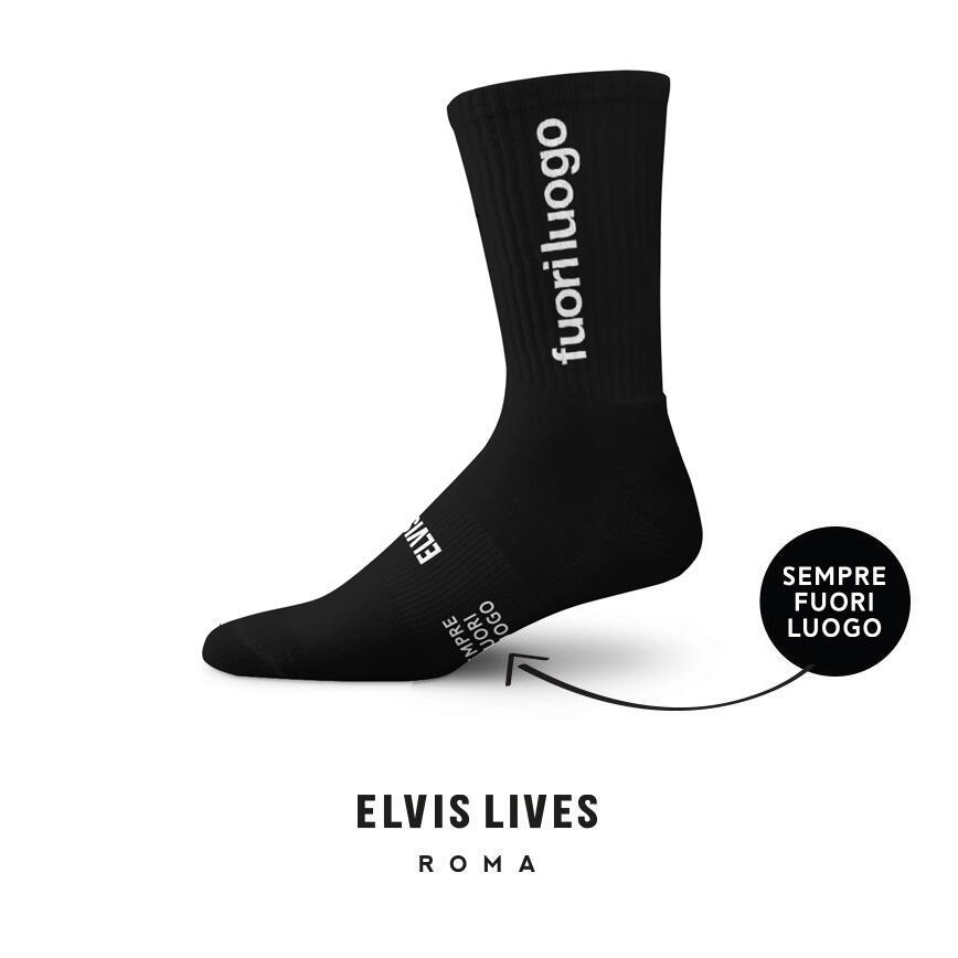 Elvis Lives Socks - Fuori Luogo Black