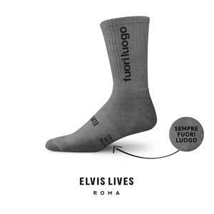 Elvis Lives Socks - Fuori Luogo Melange Grey