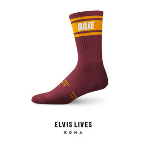 Elvis Lives Socks - Daje Bordeaux