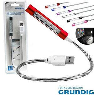 LAMPADA USB FLESSIBILE A LED GRUNDIG