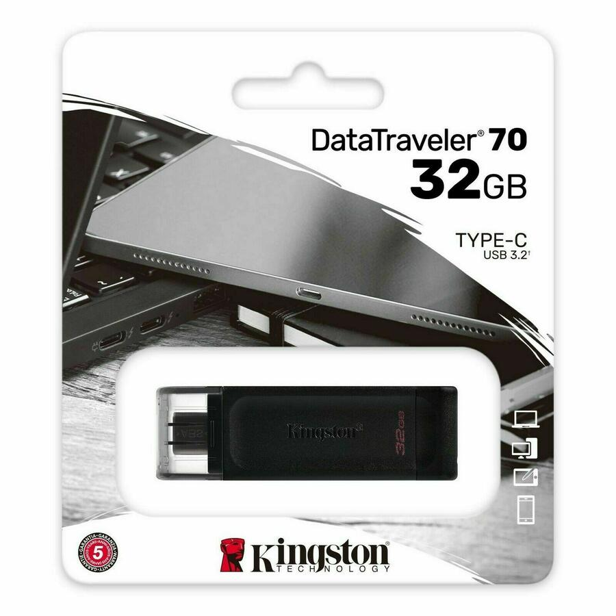 CHIAVETTA USB 3.2 TYPE-C 32 GB DATATRAVELER 70 KINGSTON