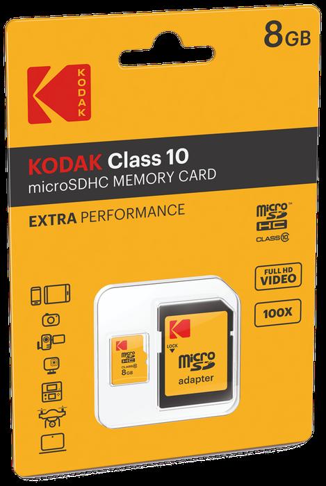 MICRO SDHC MEMORY CARD 8 GB CLASSE 10 KODAK