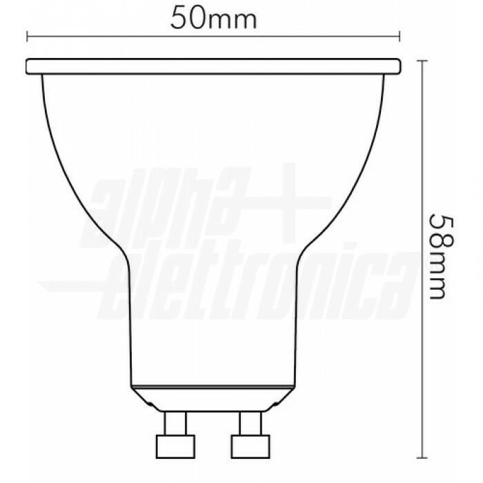 Lampadina a LED dimmerabile Wi-Fi GU10 RGB+W