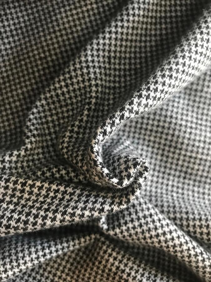 Maglina Jersey double face pied de poule/righe nero