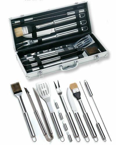 Set Valigetta Alluminio 12 pz Acciaio inox