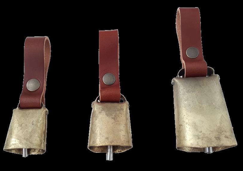 Campano in bronzo dritto con passante disponibile in 3 misure
