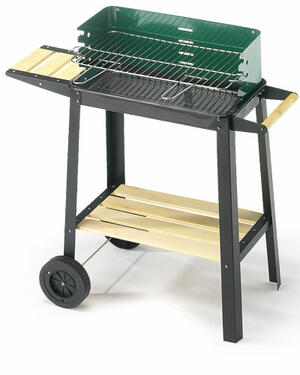 Barbecue 50-25 Green/Wood Ompagrill