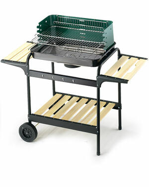 Barbecue 60-40 Green/Wood Ompagrill