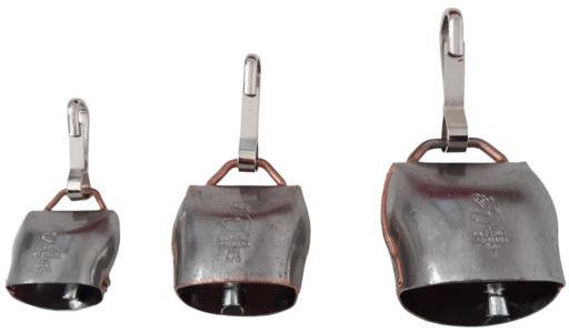 Campano in acciaio al carbonio con moschettone disponibile in 3 misure