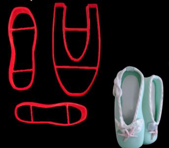 Stampi/cutters scarpina modello Danza