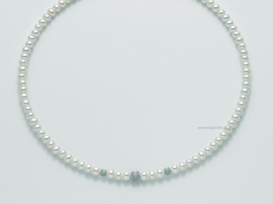 pcl5302 Girocollo di perle miluna