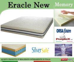 Materasso Memory Mod. Eracle New da Cm 140x190/195/200 Argento Sfoderabile Altezza Cm. 24 - ErgoRelax