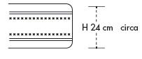 Materasso Memory Mod. Eracle New da Cm 85x190/195/200 Argento Sfoderabile Traspirante Altezza Cm. 24 - ErgoRelax
