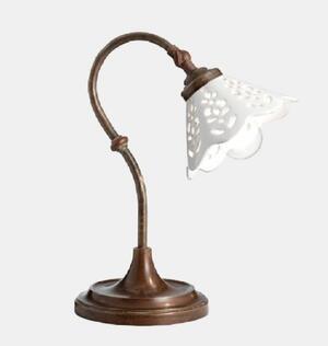 Lampada da Tavolo Fior di Pizzo in Ottone e Ceramica de Il Fanale - Offerta di Mondo Luce 24