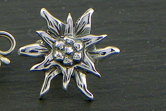 Edelweiss Orecchini pendenti Argento brunito