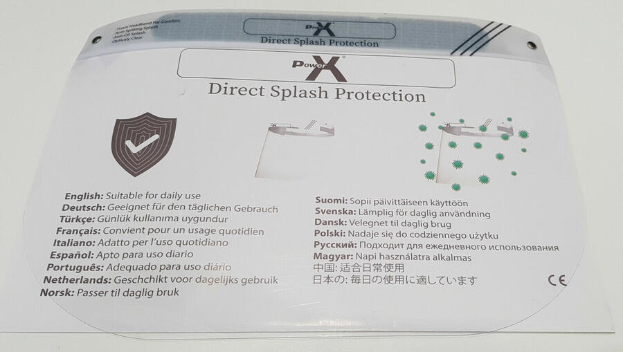 VISIERA PROTETTIVA DIRECT SPLASH PROTECTION POWERX