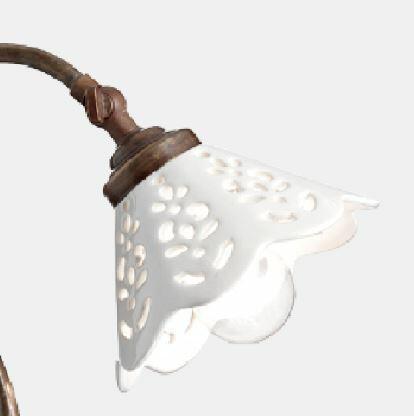 Lume Fior di Pizzo in Ottone e Ceramica de Il Fanale - Offerta di Mondo Luce 24