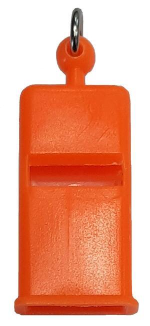 Fischietto per addestramento cani piatto German mm.45 colore arancio fluo