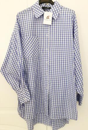 Camicia maxi quadrettata