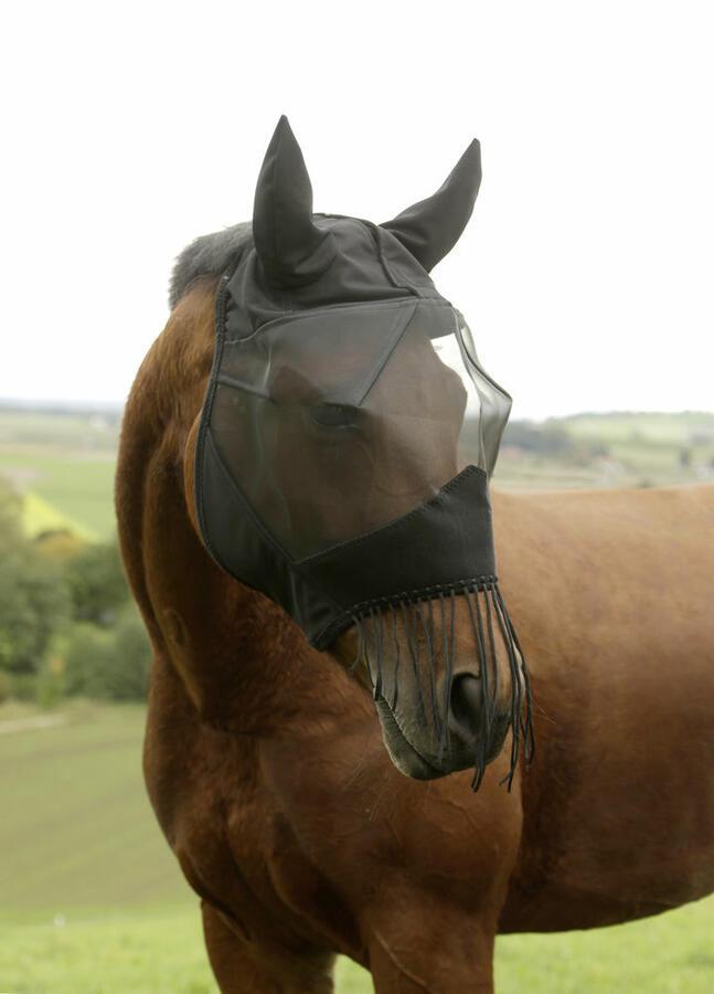 Maschera antimosche taglia PONY con protezione per orecchie e narici