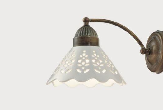 Lampada da Parete Fior di Pizzo in Ottone e Ceramica de Il Fanale, Vari Modelli - Offerta di Mondo Luce 24