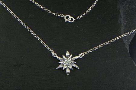 Edelweiss Girocollo in Argento brunito