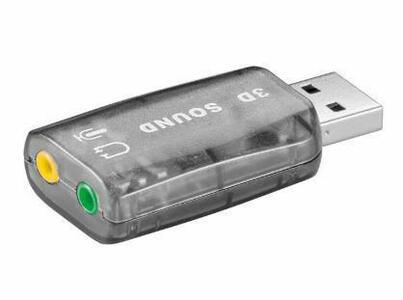 USB 2.0 SOUND CARD SCHEDA AUDIO GOOBAY