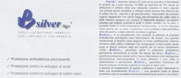 Materasso Memory Mod. Premium Silver 140x195 Zone Differenziate Argento Altezza Cm. 21 - Ergorelax
