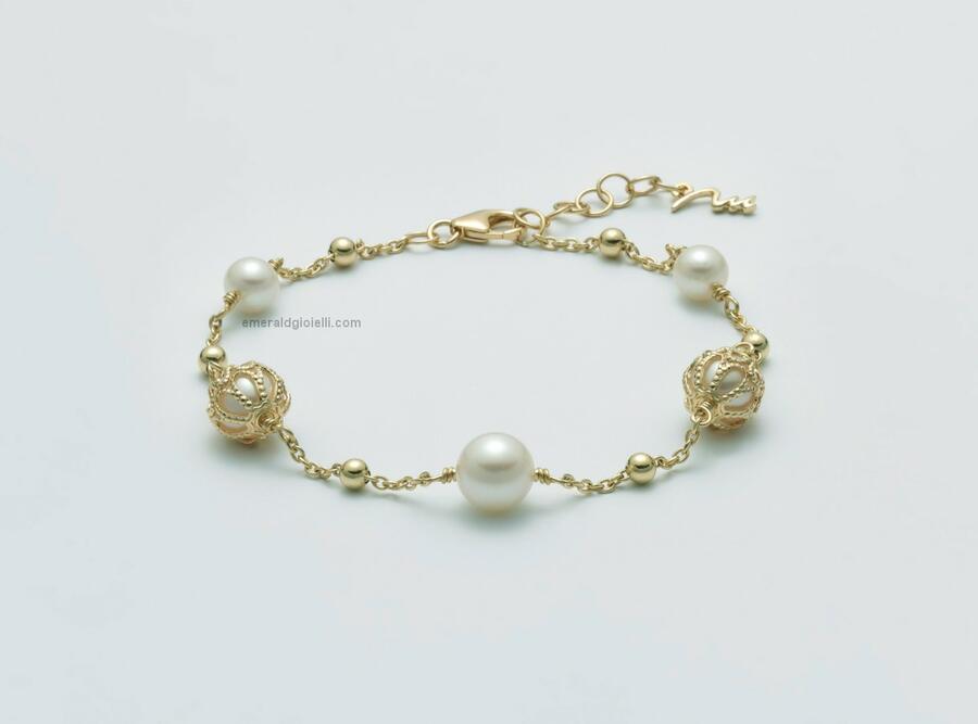 pbr3055g Bracciale di perle miluna