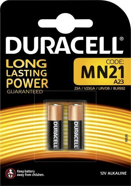 BATTERIE ALCALINE LONG LASTING POWER MN21 A23 12V DURACELL