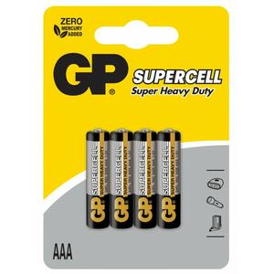 BATTERIE SUPERCELL R03 AAA 1,5V GP BATTERIES