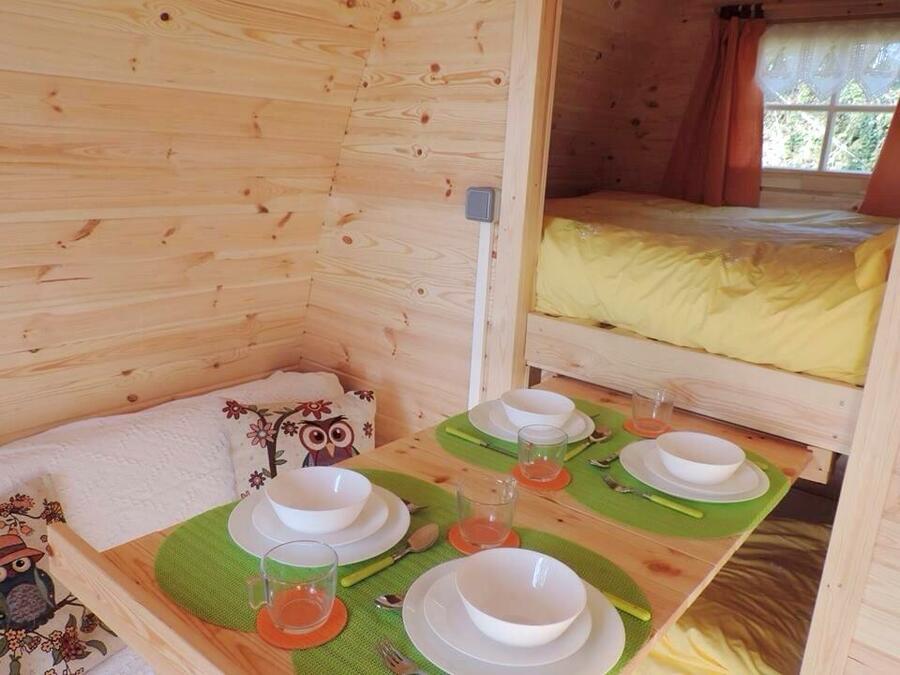 Camping Pod in legno di pino nordico Mod. Gemma 2,40 x 5,90 - 46mm