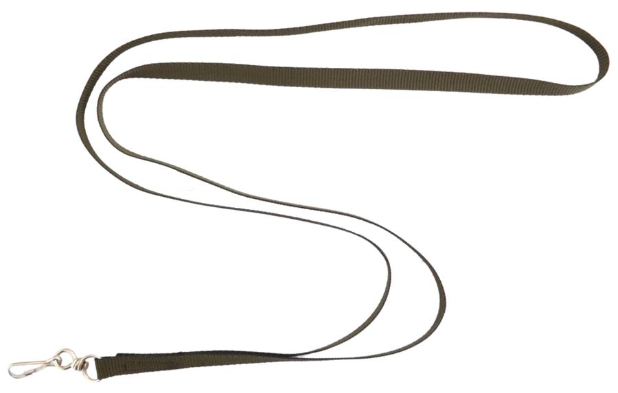 Fascetta porta fischietto in fettuccia mm.10 con 1 moschettone