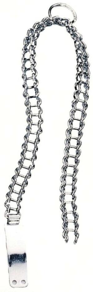 Collare in catena cromata modello leggero con piastrina
